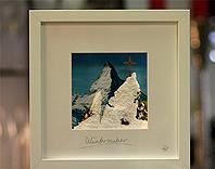 Miniaturlandschaften mit LED Beleuchtung Winterlandschaft Matterhorn